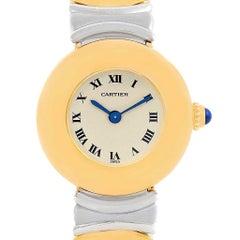 Cartier Casque Ladies Stainless Steel 18 Karat Yellow Gold Watch