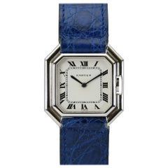 Cartier Ceinture 18 Karat White Gold Collectible Wristwatch, circa 1975