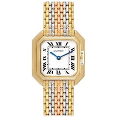 Cartier Ceinture Paris Trinity White Yellow Rose Gold Ladies Watch