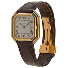 Cartier Ceinture Watch Men's Size Big Size Automatic Yellow Gold 18 Karat