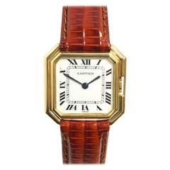 Cartier Ceinture Yellow Gold Vintage Mid Size Mechanical Wristwatch