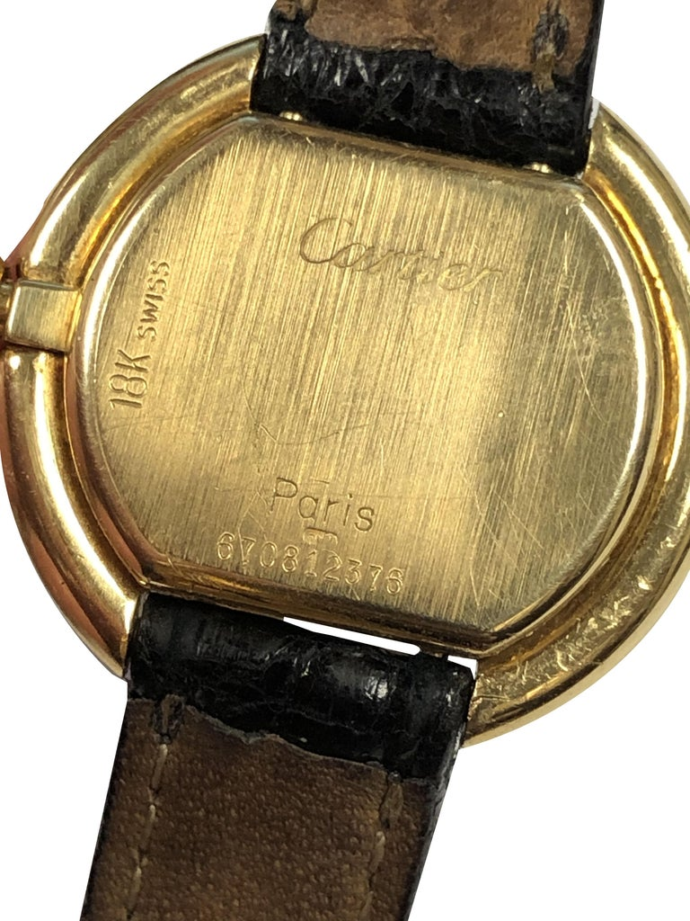 Women's Cartier Centure Ladies Vintage Yellow Gold Mechanical Wristwatch