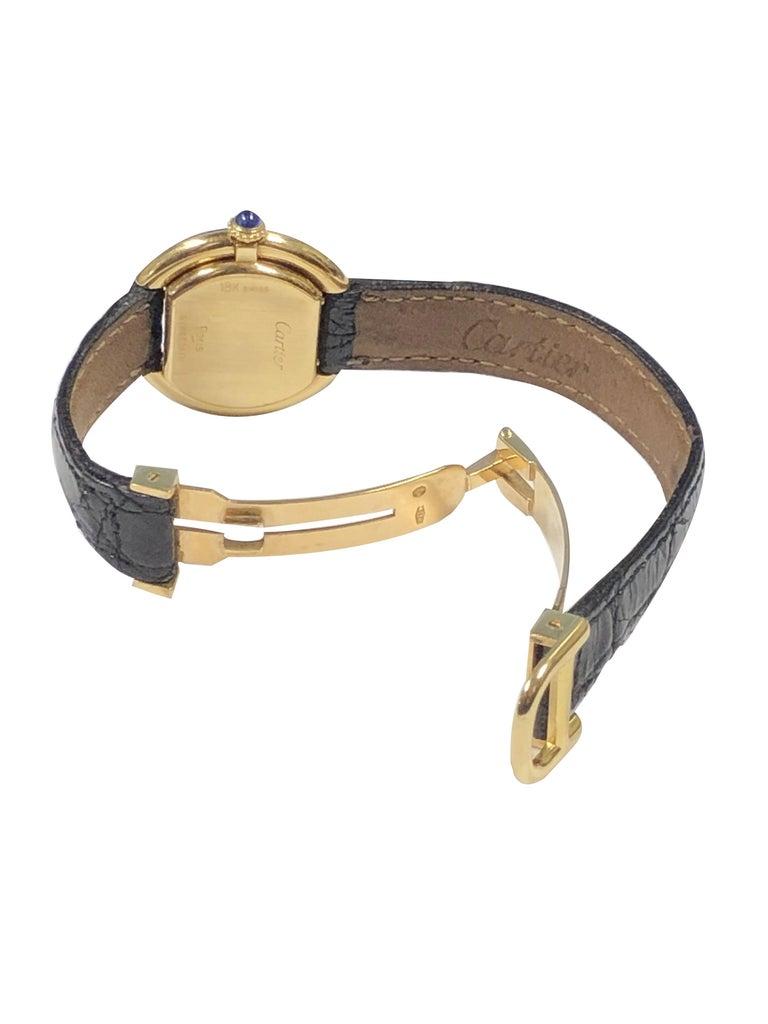 Cartier Centure Ladies Vintage Yellow Gold Mechanical Wristwatch 1