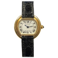Cartier Centure Ladies Vintage Yellow Gold Mechanical Wristwatch