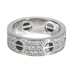 Cartier Ceramic & Enamel Love Ring in 18K White Gold 0.74 CTW