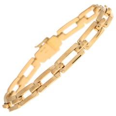 Cartier Chain Link Bracelet in Solid 18 Karat Yellow Gold