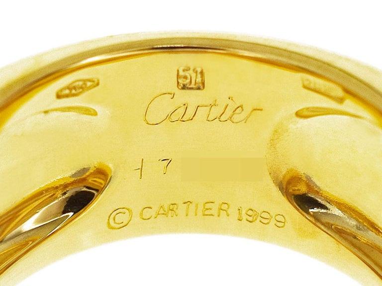 Women's Cartier Chalcedony 18 Karat Yellow Gold Tankissime Ring