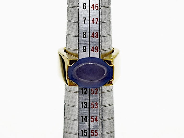 Cartier Chalcedony 18 Karat Yellow Gold Tankissime Ring 4