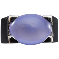 Cartier Chalcedony Ring White Gold
