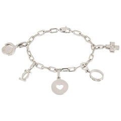 Cartier Charm Bracelet with Five Unique Charms