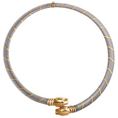 Cartier Choker 'Collar' 18 Karat Gold Double Headed Panther Necklace