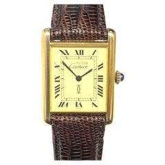 Cartier Classic Tank Vemeil Mechanical Wristwatch
