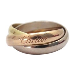 Cartier Classic Trinity 18 Karat 3 Gold Men's Ring