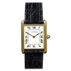 Cartier Classic Vermeil Quartz Tank Wristwatch