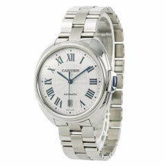 Cartier Cle 3850 WSCL0007 Men's Automatic Watch Silver Dial Stainless Steel