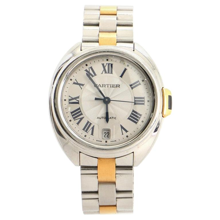 Cartier Cle de Cartier Automatic Watch Stainless Steel and Rose Gold 35