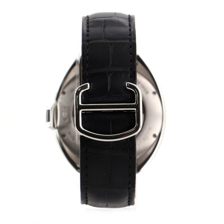 This item can only be shipped within the United States.  Estimated Retail Price: $17,600 Condition: Great. Minor scratches and wear throughout.  Wear and scratches on case and strap. Accessories: No Accessories Measurements: Case Size/Width: 40mm,