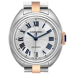 Cartier Cle Steel Rose Gold Automatic Ladies Watch W2CL0003