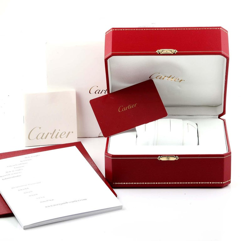 Cartier Cle Steel Rose Gold Automatic Ladies Watch W2CL0004 Unworn For Sale 4