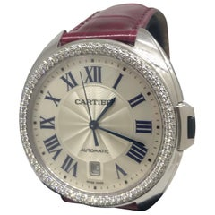 Cartier Cle White Gold Diamond Bezel Automatic Ladies Watch WJCL0011 Brand New