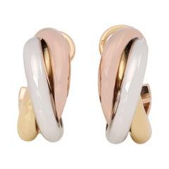 Cartier Clip Hoop Trinity Earrings