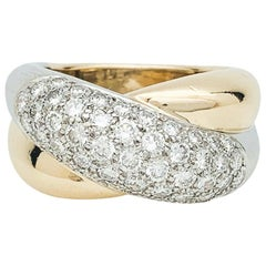 "Cartier ""Colisée"" Ring, Yellow Gold and Platinum Set with Diamonds"