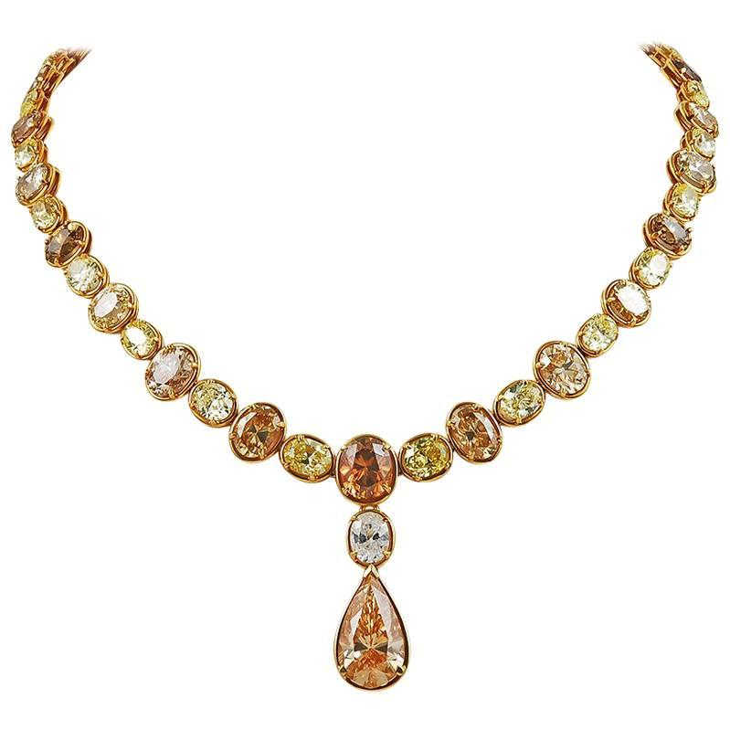 Cartier Colored Diamond Necklace