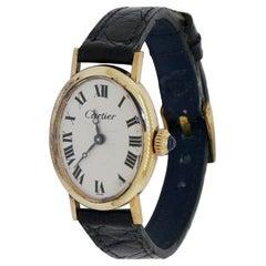 Cartier & Concord Vintage 14K Gold Elegant Oval Mechanical Ladies Watch w/ Box