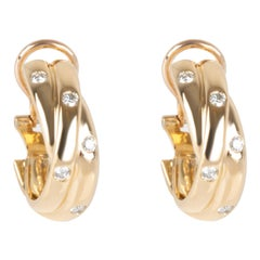 Cartier Constellation Diamond Earrings in 18 Karat Yellow Gold 0.33 Carat