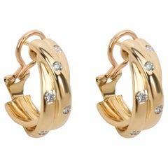 Cartier Constellation Diamond Hoop Earrings in 18 Karat Yellow Gold