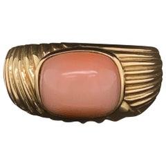 Cartier Coral 18 Karat Yellow Gold Ring