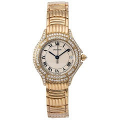 Cartier Cougar 1171 1, Beige Dial, Certified and Warranty