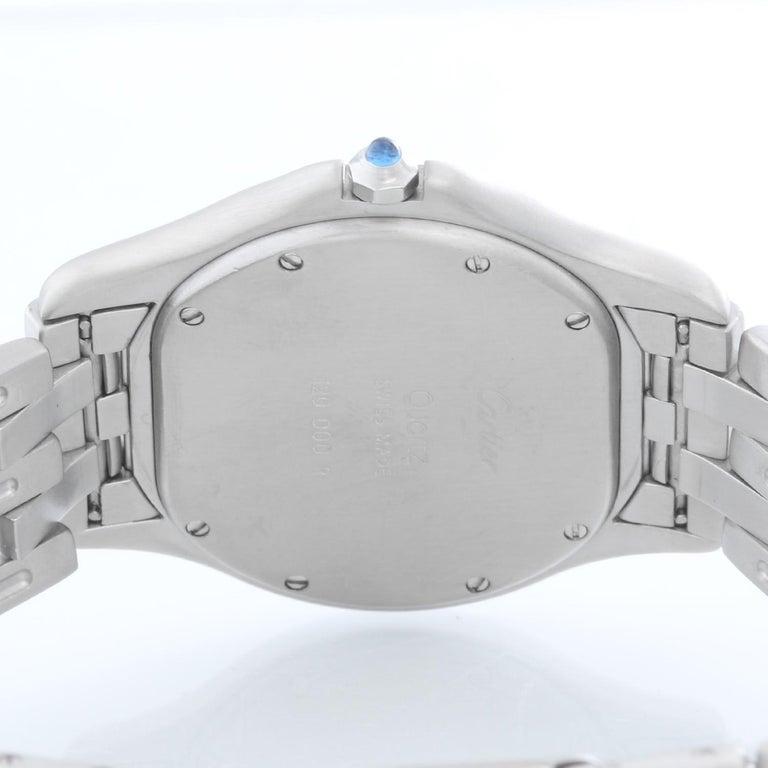 Cartier Cougar Men's/Ladies Midsize Stainless Steel Quartz Watch In Excellent Condition For Sale In Dallas, TX