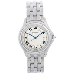 Cartier Cougar Men's/Ladies Midsize Stainless Steel Quartz Watch