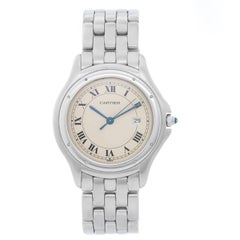 Cartier Stainless Steel Cougar Midsize Quartz Wristwatch