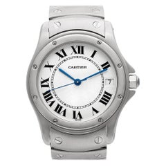 Cartier Cougar No-Ref, White Dial, Certified and Warranty