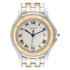 Cartier Cougar Steel 18 Karat Yellow Gold Unisex Watch W35006B6