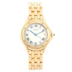 Cartier Cougar Yellow Gold Ladies Quartz Watch