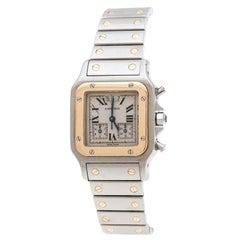 Cartier Cream 18K Yellow Gold Santos Galbée 2425 Women's Wristwatch 29 mm