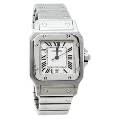 Cartier Cream Stainless Steel Santos 1564 Women's Wristwatch 29MM