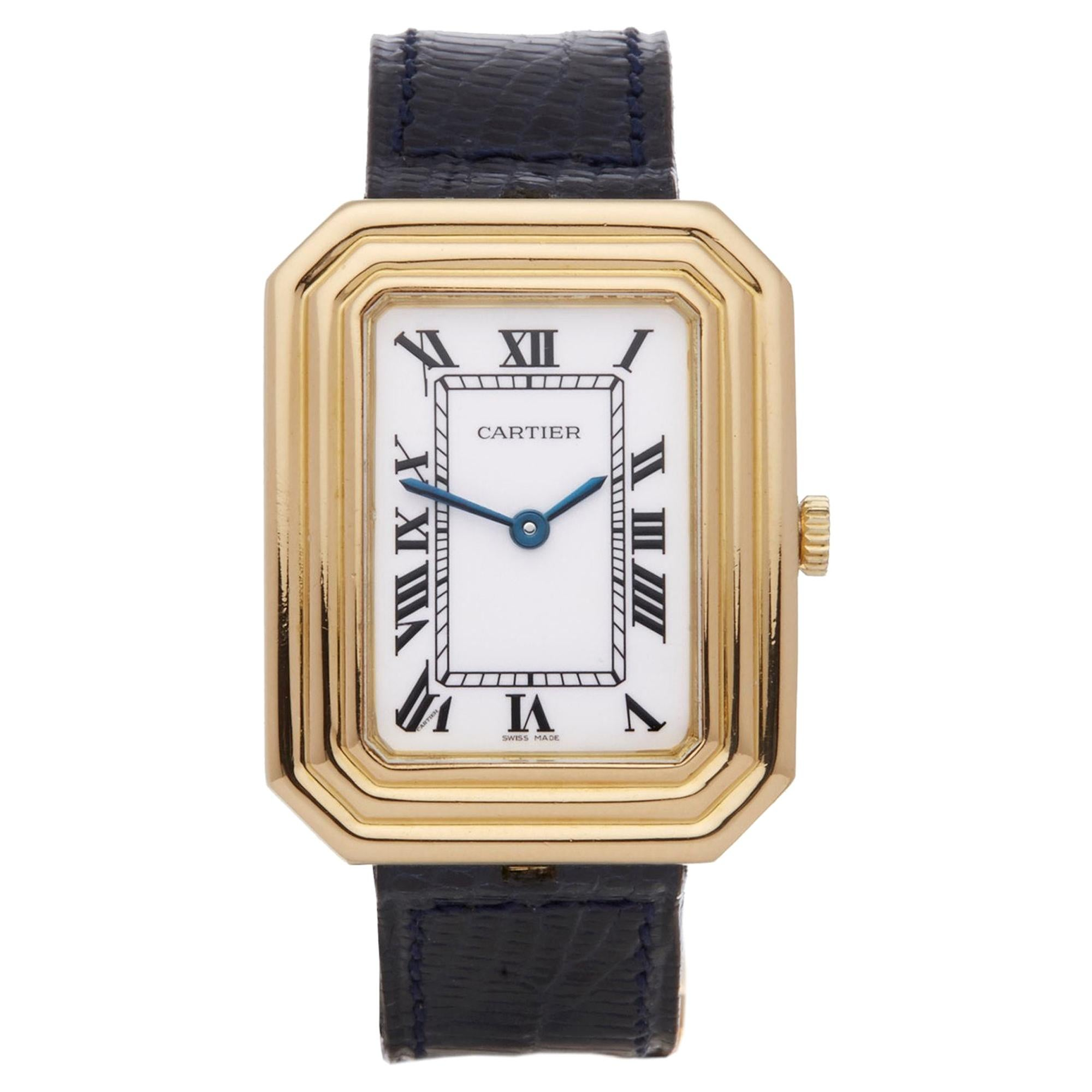 Cartier Cristallor Paris Ladies Yellow Gold Enamel Dial Watch