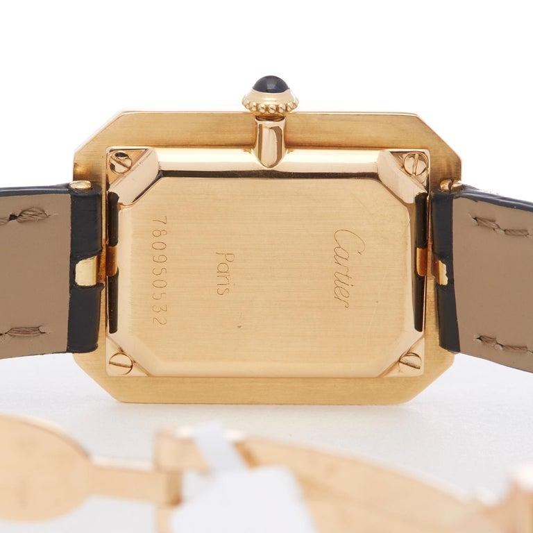 Cartier Cristallor Paris Mecanique 18 Karat Yellow Gold For Sale 2