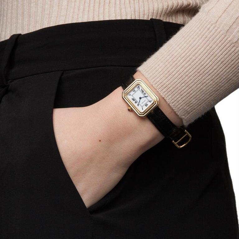 Cartier Cristallor Paris Mecanique 18 Karat Yellow Gold For Sale 4