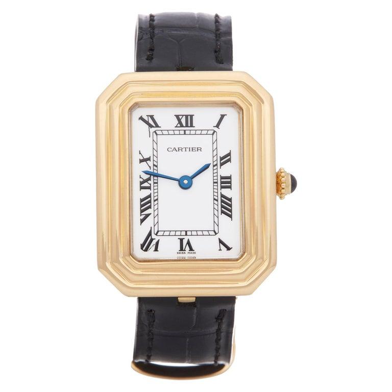 Cartier Cristallor Paris Mecanique 18 Karat Yellow Gold For Sale