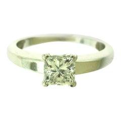 Cartier Declaration D'Amour Princess Cut GIA Diamond Platinum Ring