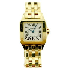 Cartier Demoiselle W25063X9 18 Karat Gold White Dial Watch, Small W-161
