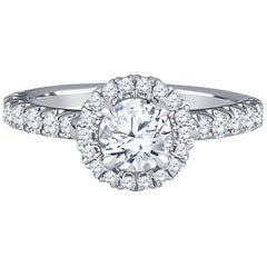 Cartier Desinee Solitaire Engagement Ring with 0.50 Carat Round Centre Stone