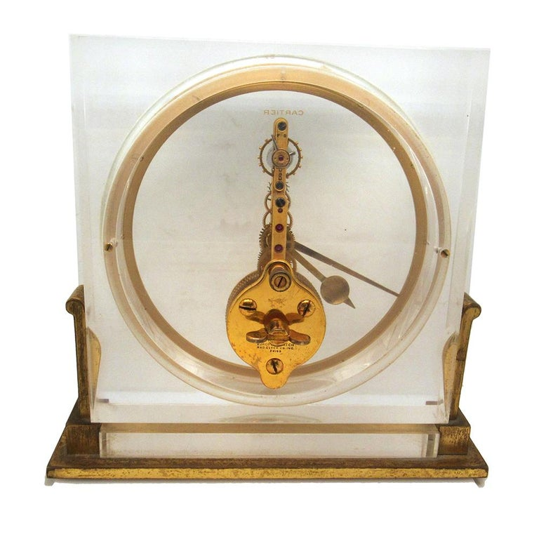 Rare Cartier clock made in the 1950's for Cartier by European Watch and Clock Company, the 5