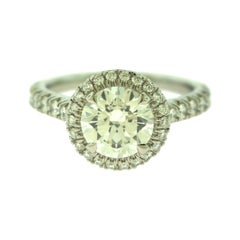 Cartier Destinee Solitaire GIA Diamond Platinum Engagement Wedding Ring