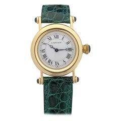 Cartier Diablo Yellow Gold Ladies Quartz Wrist Watch
